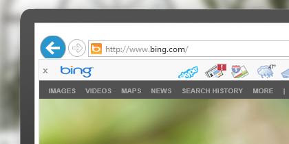 Get Skype, news, maps, and mail in one place with the Bing Bar.