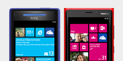 Encontre o Windows Phone que se adapta ao seu estilo.